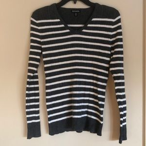 George Grey Striped Sweater!